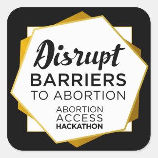 Abtreibungs-Zugang Hackathon Aufkleber