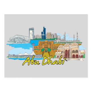 Abu Dhabi, berühmte Stadt Arabische Emirates Postkarte