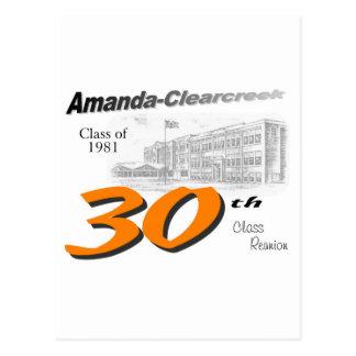 ACHS 30. Klassen-Wiedersehenlogo Postkarte