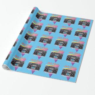 Achtzigerjahre Getto-Bläser boombox Geschenkpapier