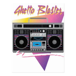 Achtzigerjahre Getto-Bläser boombox Postkarte
