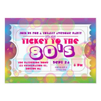Achtzigerjahre Party-Karten-Aufnahme-Einladung 12,7 X 17,8 Cm Einladungskarte