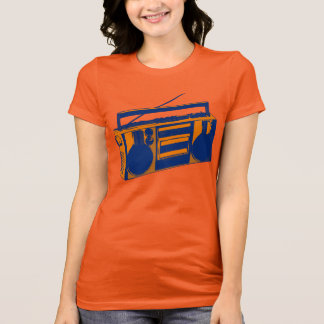 Achtzigerjahre Retro Boombox T - Shirt