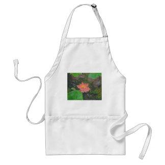 Acryl auf Leinwand, rosa Wasserlilie und Schürze