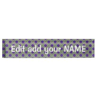 Acrylschreibtisch-Nummernschild NAME, Titel, Namensplakette