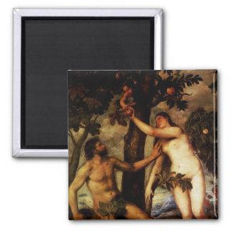 Adam u. Eve - der Fall des Mann-Magneten Quadratischer Magnet