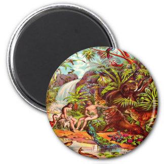 Adam- und Eve-Magnet Runder Magnet 5,7 Cm