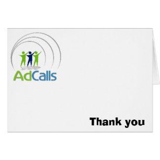 adcallslogo, danke mitteilungskarte