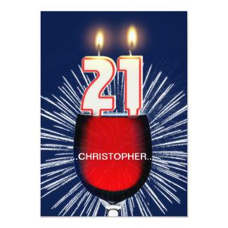 Addieren Sie einen Namen, 21. Geburtstags-Party 12,7 X 17,8 Cm Einladungskarte