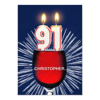 Addieren Sie einen Namen, 91. Geburtstags-Party 12,7 X 17,8 Cm Einladungskarte