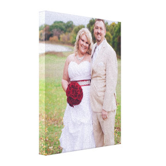 Addieren Sie Hochzeits-Foto oder andere 's Galerie Faltleinwand