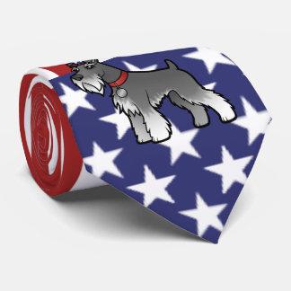 Addieren Sie Ihr eigenes Haustier und Flagge Personalisierte Krawatten