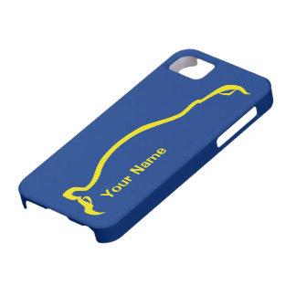 """""""addieren Sie Ihr Name"""" blaue/gelbe Silhouette WTI Schutzhülle Fürs iPhone 5"""