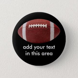 Addieren Sie Ihr Text Fußball-Knopf-Button Runder Button 5,7 Cm