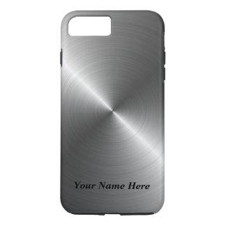 Addieren Sie Ihren Namensstahlmetallblick iPhone 8 iPhone 8 Plus/7 Plus Hülle