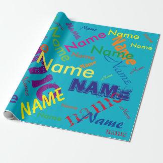Addieren Sie kundenspezifisches NamensPackpapier Geschenkpapier