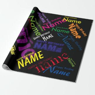 Addieren Sie Namensalles- Gute zum Geschenkpapier