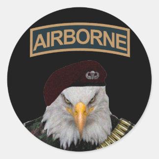 Adler-Armeeart der im Flugzeug Einheiten mutige Runder Aufkleber