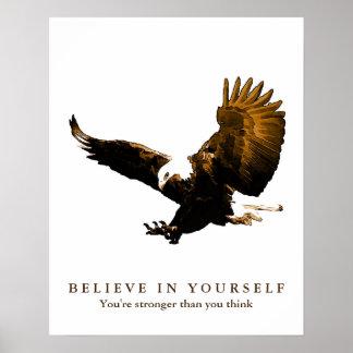 Adler-motivierend Vertrauen glauben an selbst Poster
