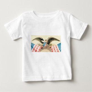 Adler und Flaggen-Siegel Baby T-shirt