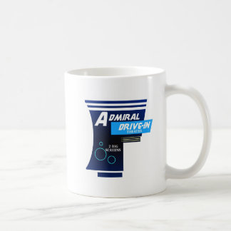 Admirals-Autokino-Film-Zeichen Kaffeetasse