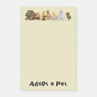 Adoptieren Sie ein Haustier Post-it Haftnotiz