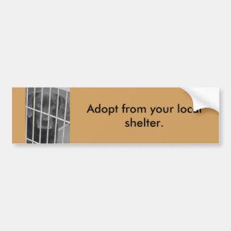 Adoptieren Sie von Ihrem lokalen Schutz Autoaufkleber