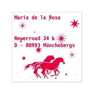 Adresse und Pferde Permastempel