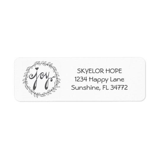 Adressen-Etiketten der FREUDE | Rücksende Aufkleber