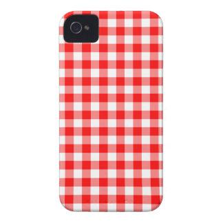 Adretter roter und weißer Gingham überprüft iPhone 4 Cover