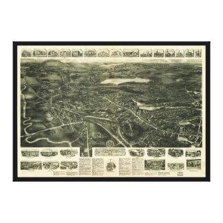 Aero Ansicht von Canton, Massachusetts (1918) Leinwanddruck