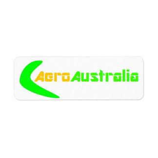 AeroAustralia Kasten-Aufkleber (klein) Rücksende Aufkleber