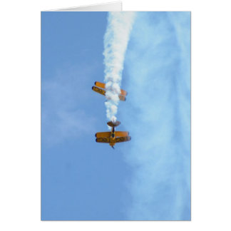 Aerobatic Doppeldecker Grußkarte