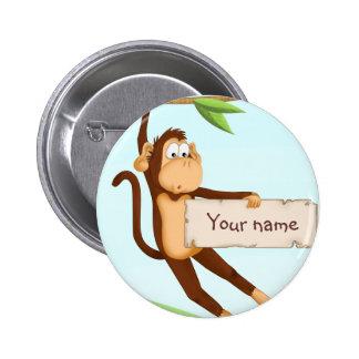 Affe für Kinder Runder Button 5,7 Cm