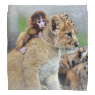 Affe und Löwe CUB/Bandana Halstuch