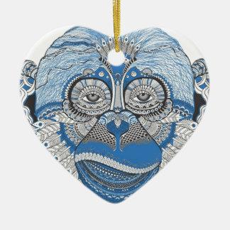 Affe - universell keramik Herz-Ornament
