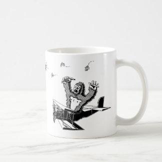 Affen auf Flugzeuge Kaffeetasse