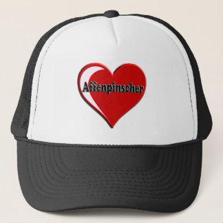 Affenpinscher-Herz Truckerkappe