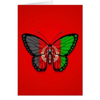 Afghanische Schmetterlings-Flagge auf Rot Karte