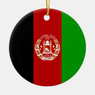Afghanistan-Flagge Keramik Ornament