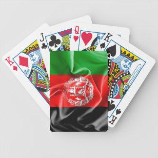Afghanistan-Flaggen-Fahrrad-Spielkarten Spielkarten