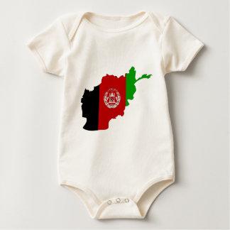 Afghanistan-Flaggenkarte Strampelanzug