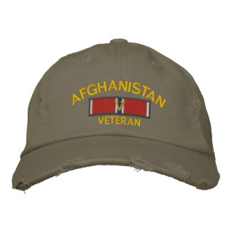 Afghanistan-Veteranen-Bronze-Stern mit V Bestickte Baseballkappe