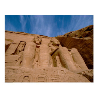 Afrika, Ägypten, Abu Simbel, Ramses II und Postkarte
