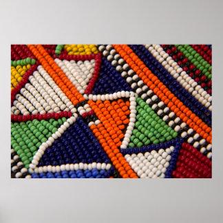 Afrika, Kenia. Maasai Stammes- Perlen Poster