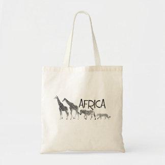 Afrika-Taschentasche Budget Stoffbeutel