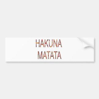 Afrikanische Vintage Farben Hakuna Matata. Autoaufkleber