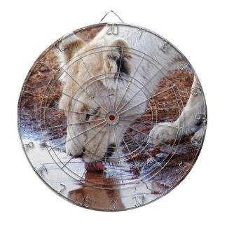 Afrikanische weiße Löwe-Reflexion Dartscheibe