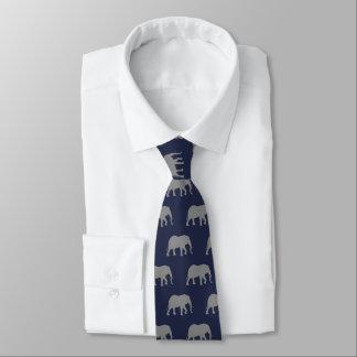 Afrikanischer Elefant-Silhouette-Muster Krawatte