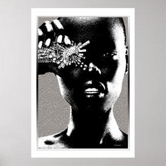 Afrikanischer Mode-Diamant Poster